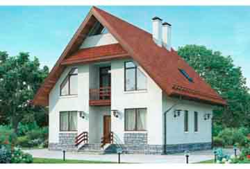 Проект дома из блоков АСД-1115