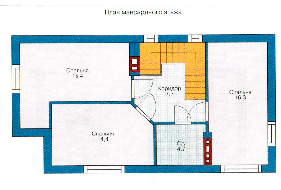 План N2 проекта кирпичного дома АСД-1012