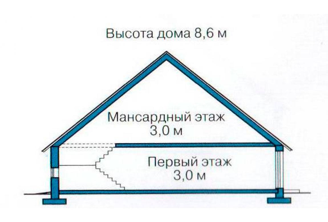 План N3 проекта кирпичного дома АСД-1012