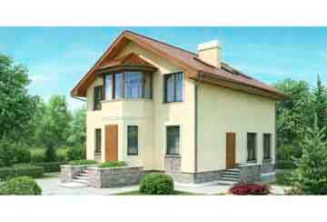 Проект дома из блоков АСД-1120
