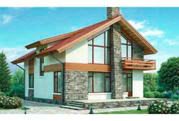 Проект дома из блоков АСД-1124