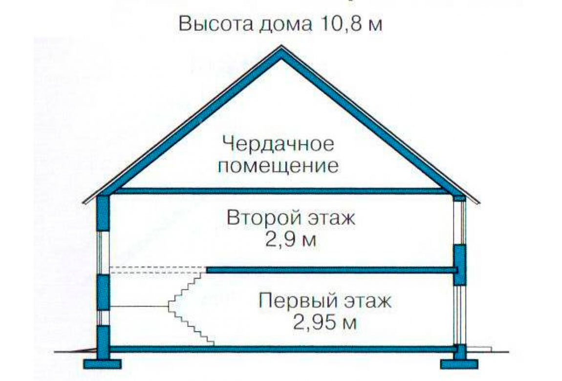 План N3 проекта дома из блоков АСД-1127