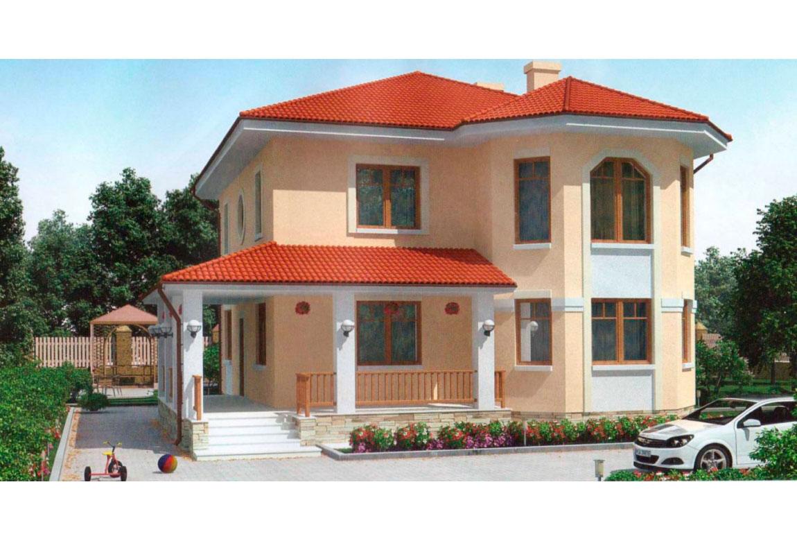Проект дома из блоков АСД-1128 (uploads/gss/goods/128/big_1.jpg).