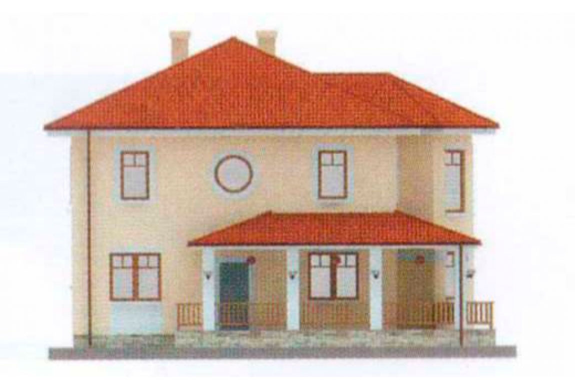 Проект дома из блоков АСД-1128 (uploads/gss/goods/128/big_2.jpg).