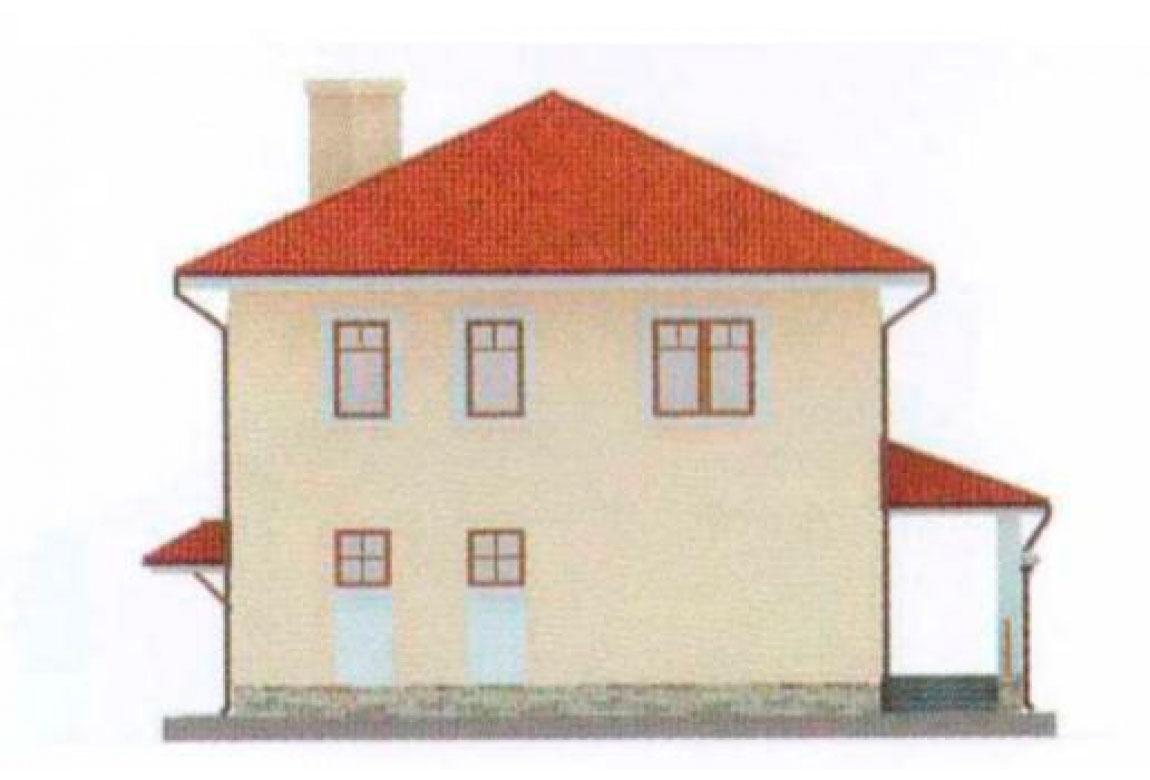 Проект дома из блоков АСД-1128 (uploads/gss/goods/128/big_3.jpg).