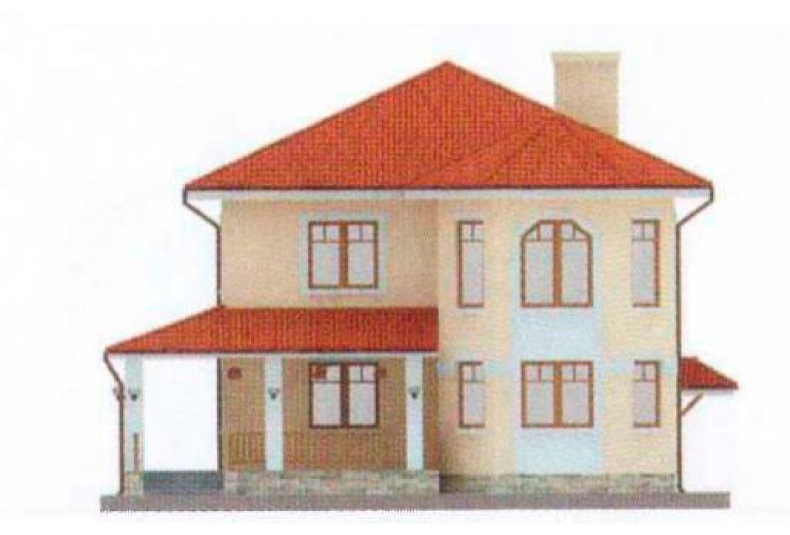 Проект дома из блоков АСД-1128 (uploads/gss/goods/128/big_5.jpg).