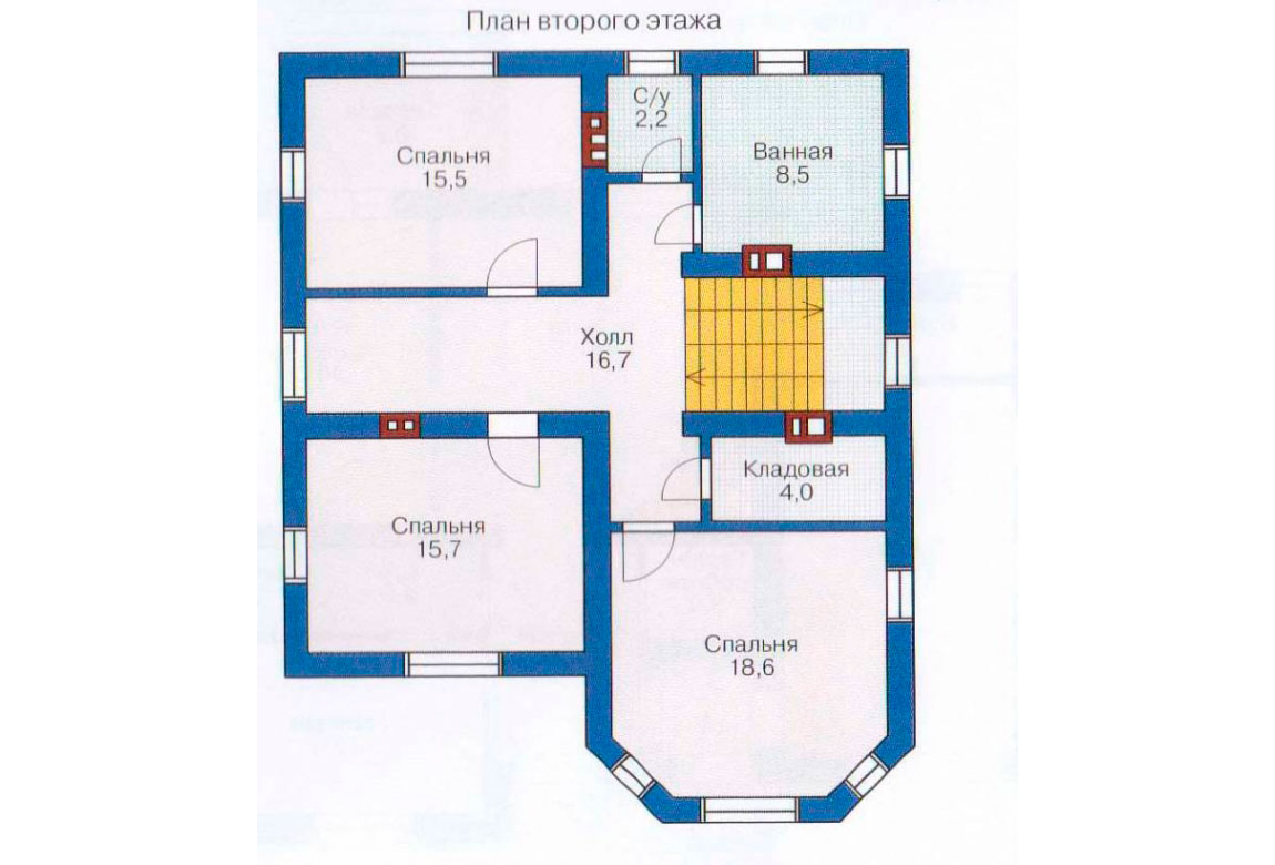 План N2 проекта дома из блоков АСД-1128