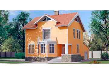 Проект дома из блоков АСД-1129