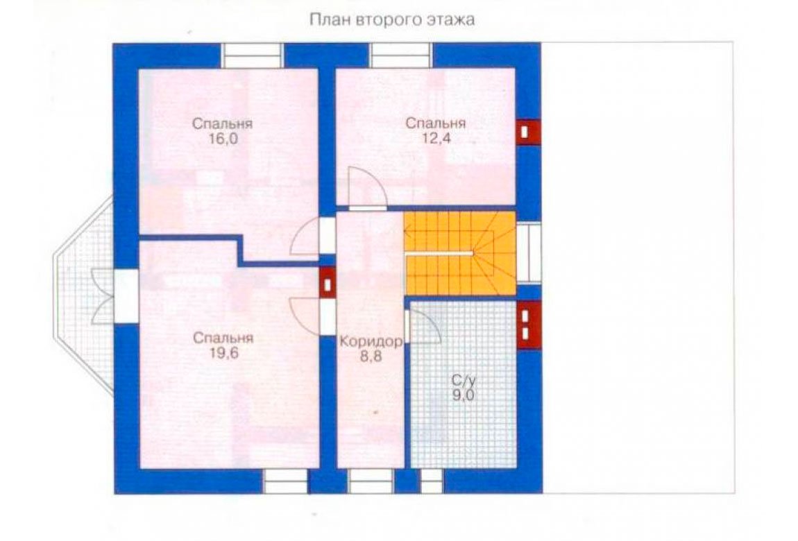 План N1 проекта дома из блоков АСД-1129