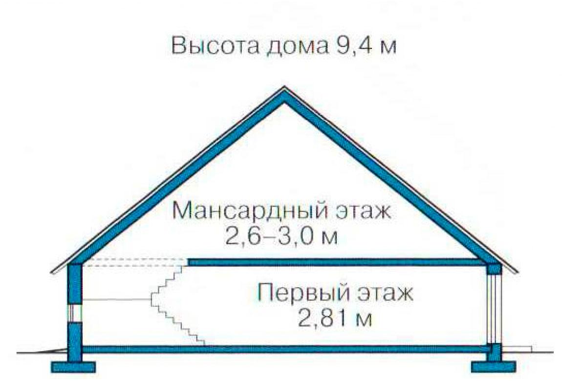 План N3 проекта кирпичного дома АСД-1013
