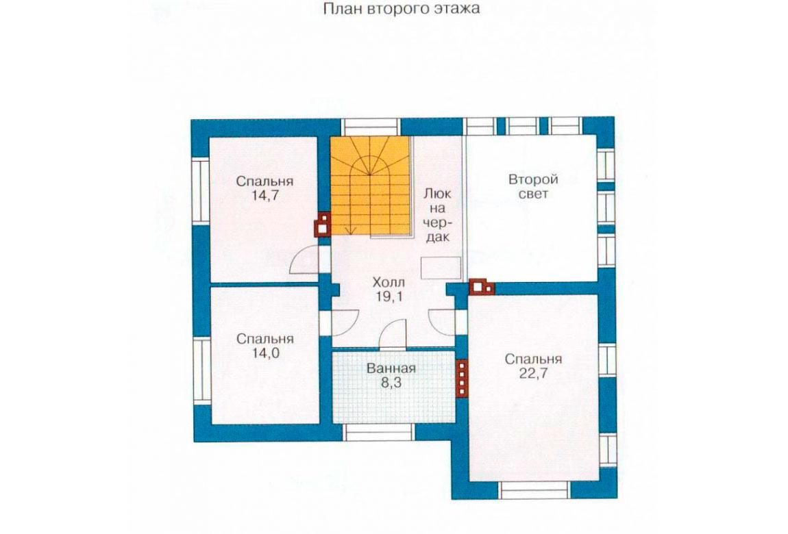 План N2 проекта дома из блоков АСД-1130