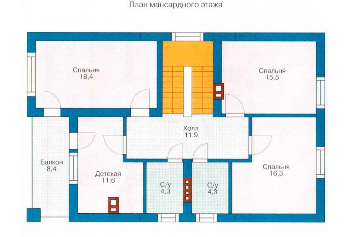 План N1 проекта дома из блоков АСД-1131