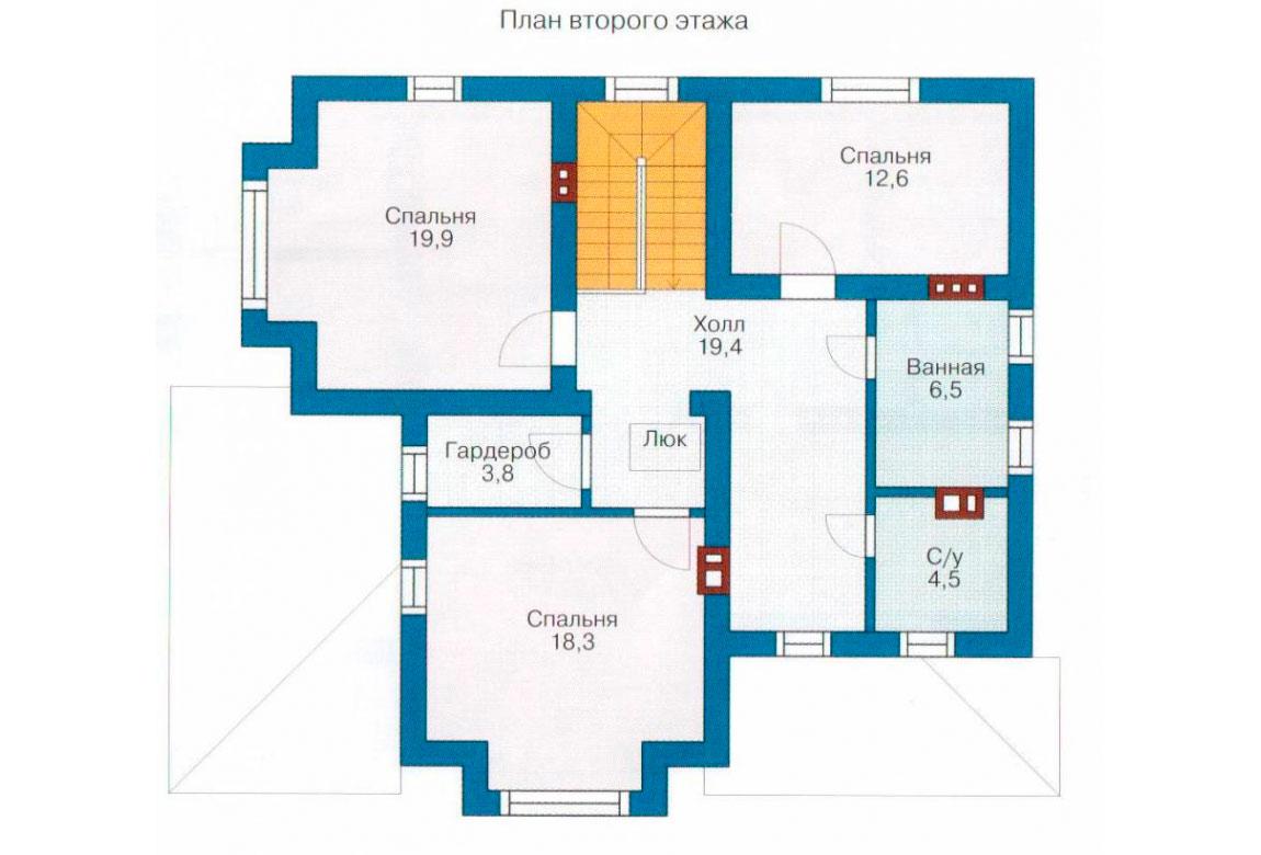 План N1 проекта дома из блоков АСД-1132