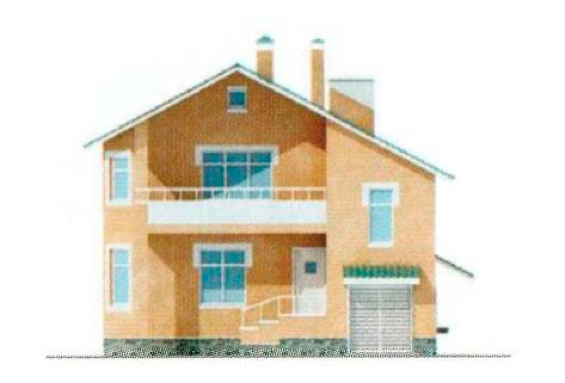 Проект дома из блоков АСД-1133 (uploads/gss/goods/133/big_5.jpg).