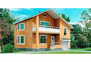 Проект дома из блоков АСД-1133
