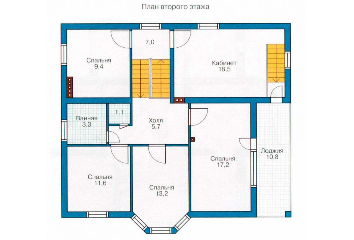 План N2 проекта дома из блоков АСД-1133