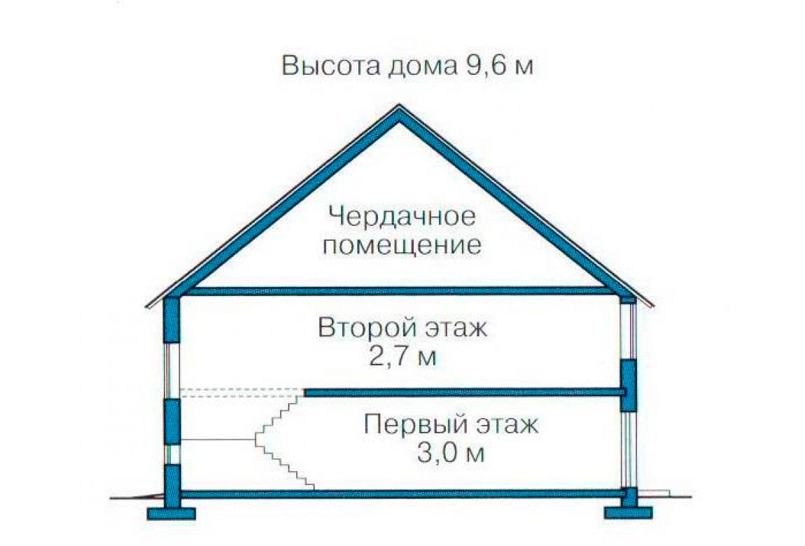 План N3 проекта дома из блоков АСД-1133