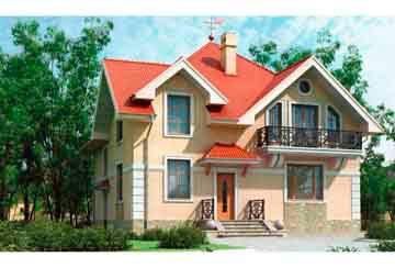 Проект дома из блоков АСД-1134