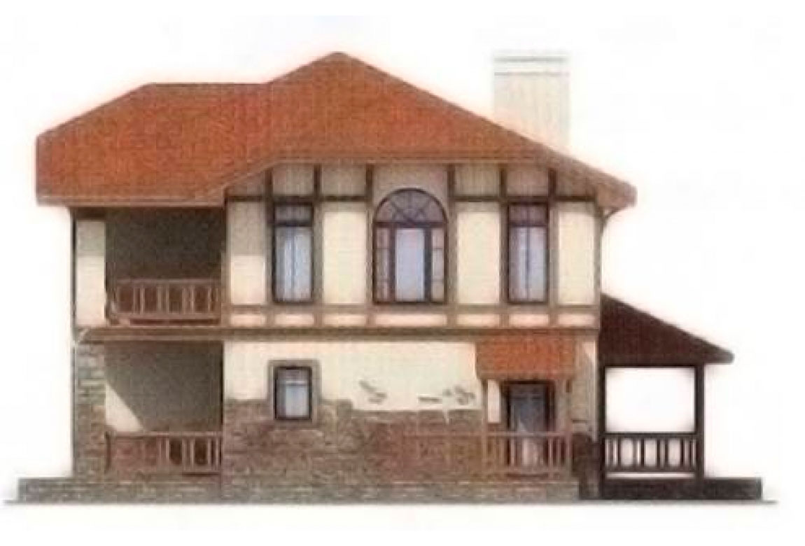 Проект дома из блоков АСД-1135 (uploads/gss/goods/135/big_4.jpg).