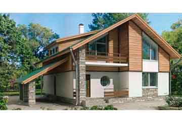 Проект дома из блоков АСД-1136