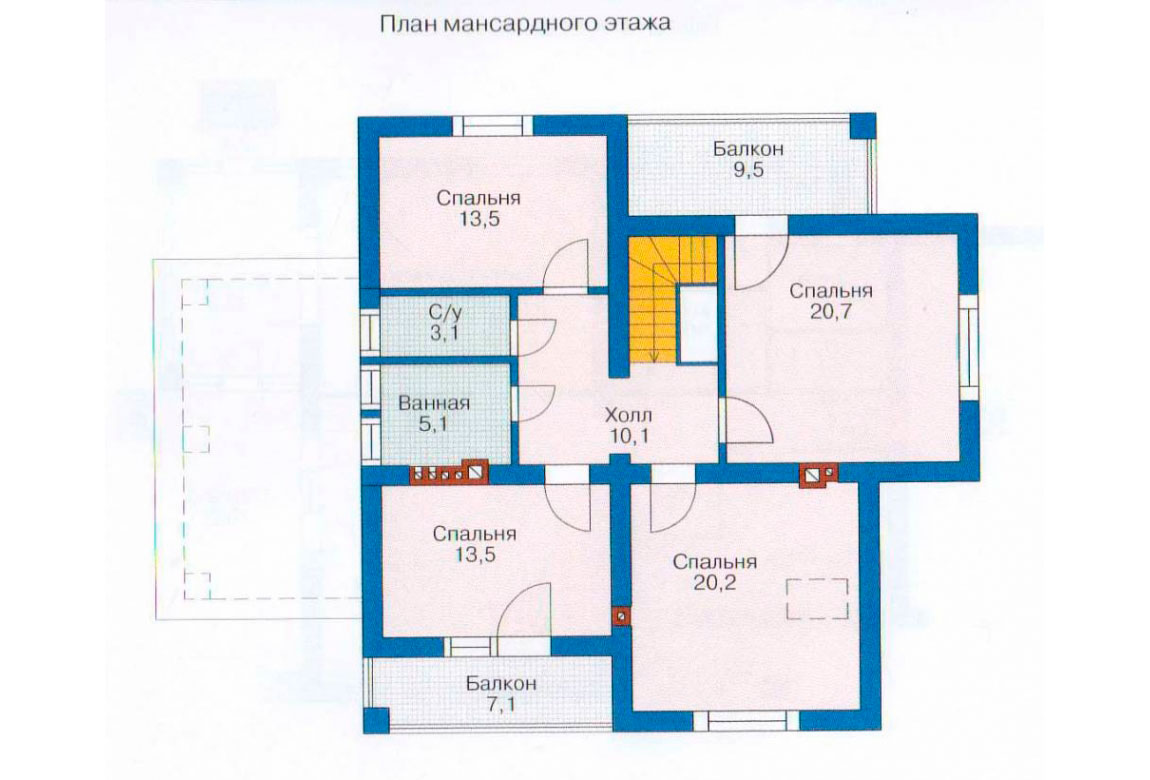 План N2 проекта дома из блоков АСД-1136