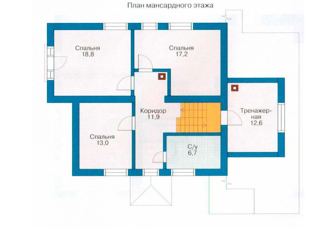 План N2 проекта дома из блоков АСД-1137