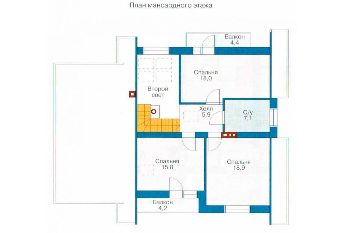 План N1 проекта дома из блоков АСД-1138