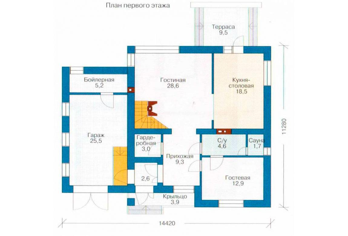 План N2 проекта дома из блоков АСД-1138