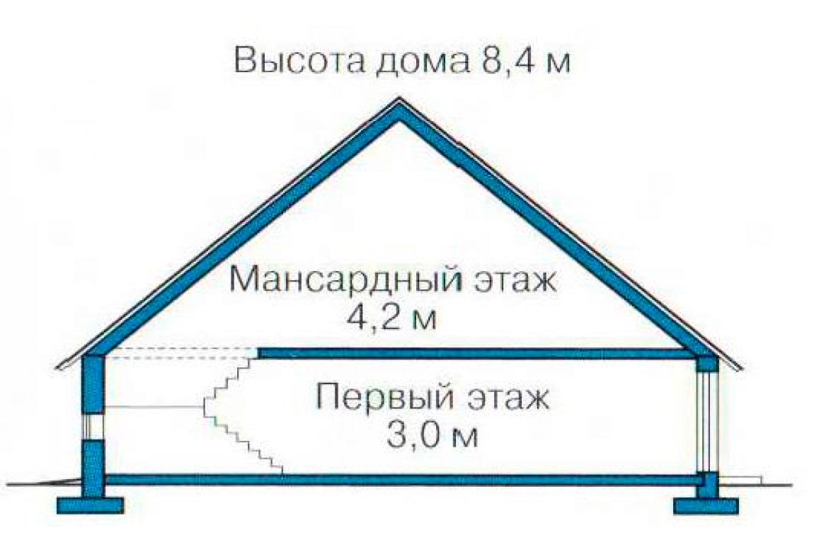 План N3 проекта дома из блоков АСД-1138