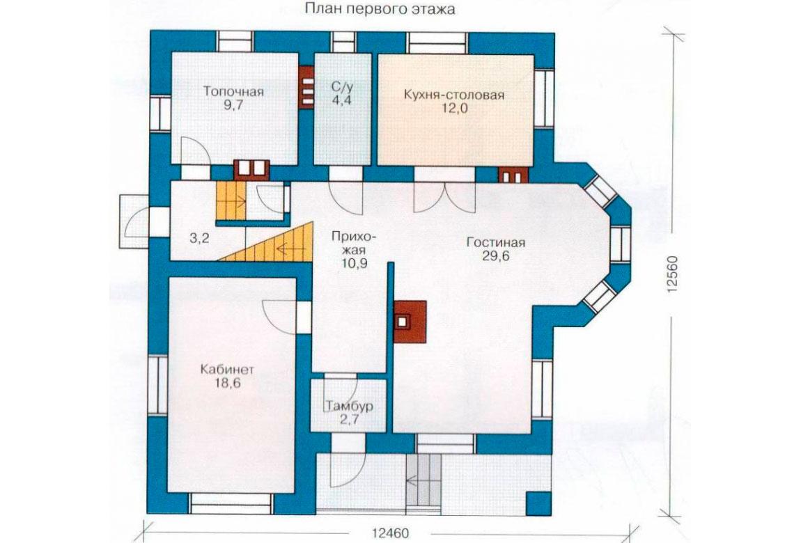 План N2 проекта дома из блоков АСД-1139