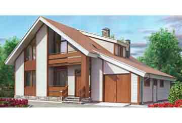 Проект дома из блоков АСД-1140