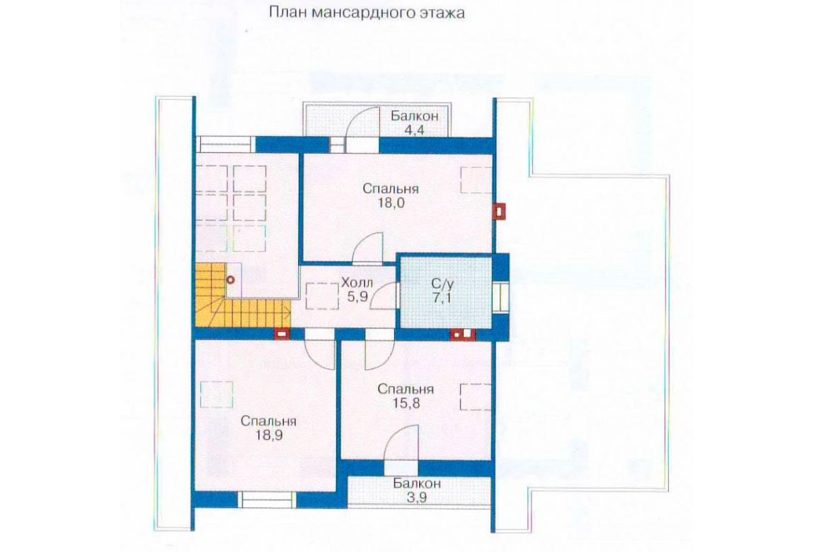 План N1 проекта дома из блоков АСД-1140