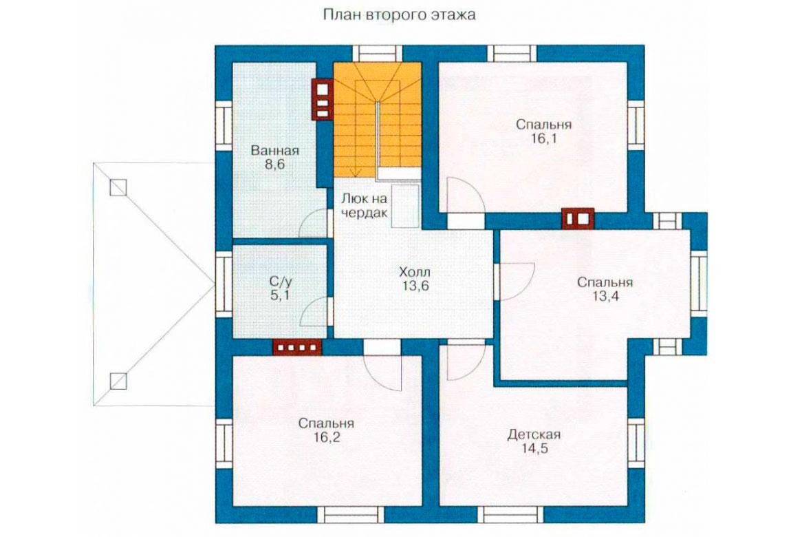 План N1 проекта дома из блоков АСД-1142