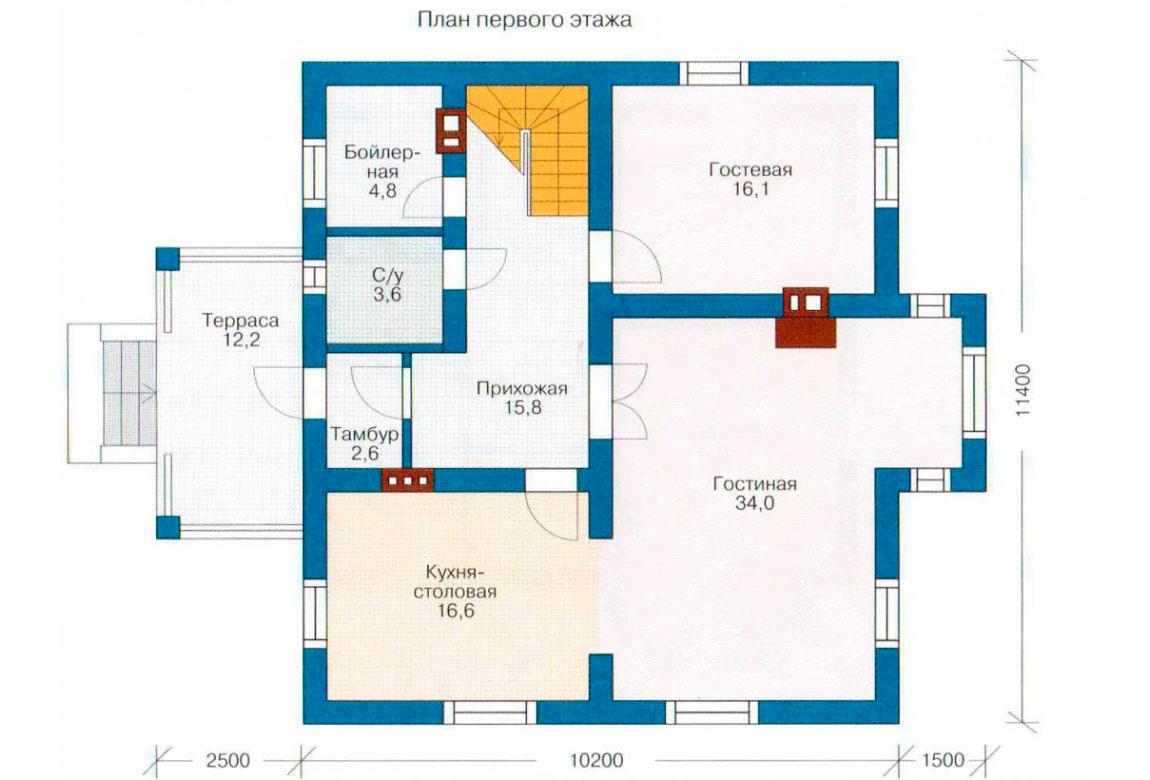 План N2 проекта дома из блоков АСД-1142