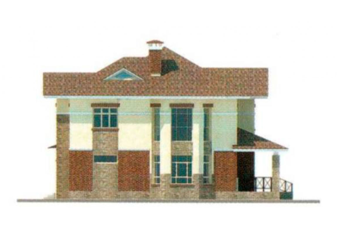 Проект дома из блоков АСД-1143 (uploads/gss/goods/143/big_2.jpg).