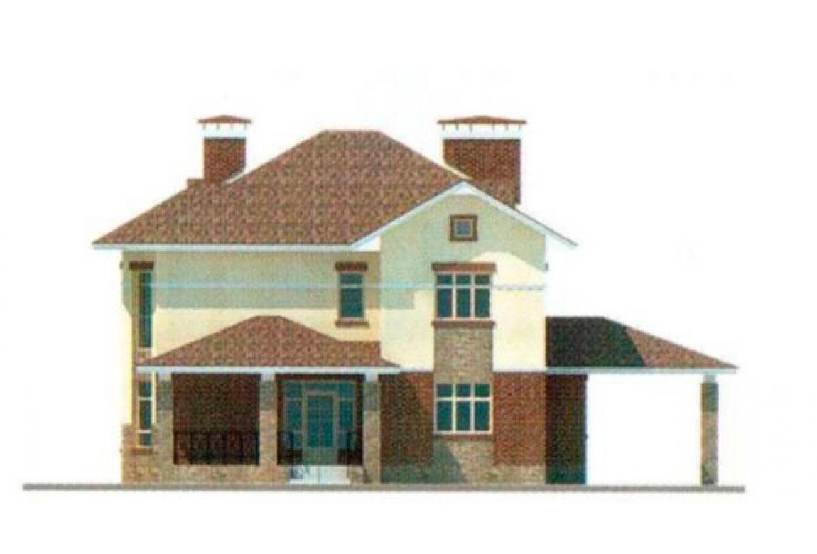 Проект дома из блоков АСД-1143 (uploads/gss/goods/143/big_3.jpg).