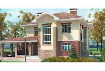 Проект дома из блоков АСД-1143