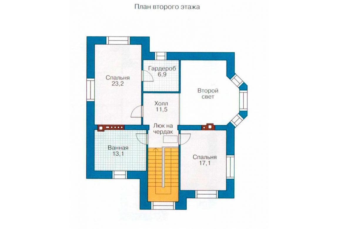 План N1 проекта дома из блоков АСД-1143
