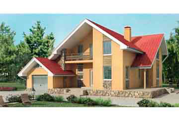 Проект дома из блоков АСД-1144