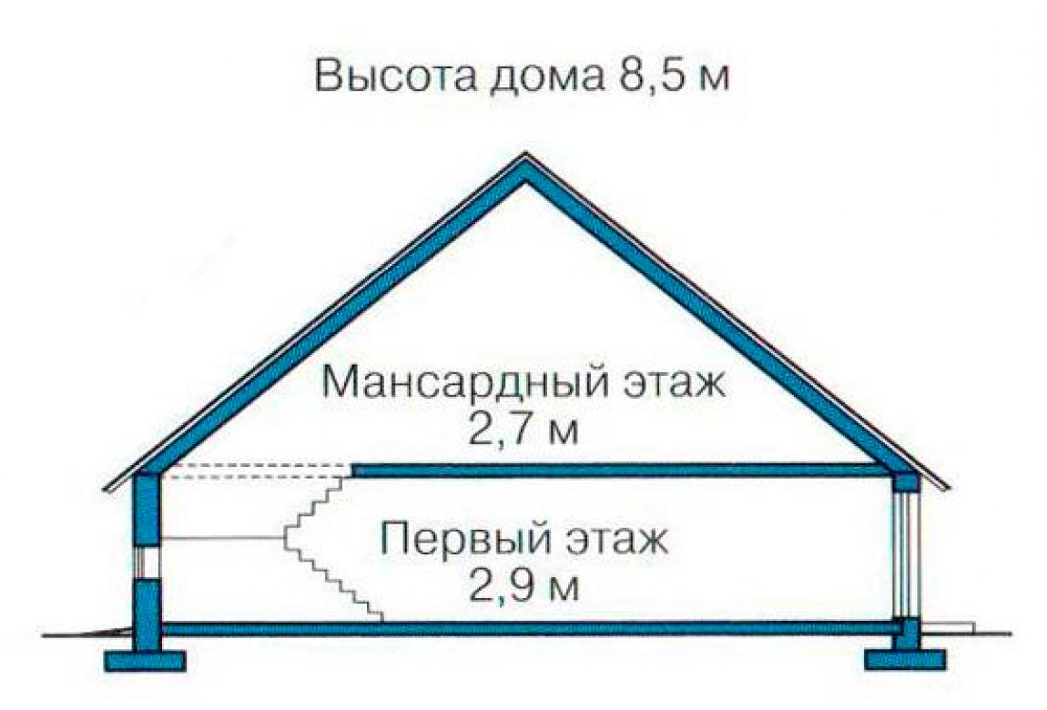 План N3 проекта дома из блоков АСД-1144