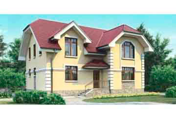 Проект дома из блоков АСД-1145