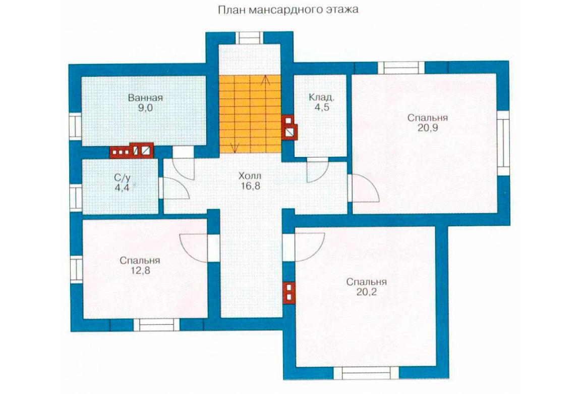 План N2 проекта дома из блоков АСД-1145