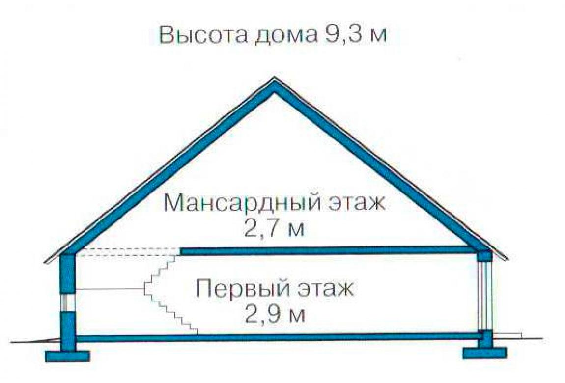 План N3 проекта дома из блоков АСД-1145