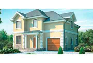 Проект дома из блоков АСД-1147