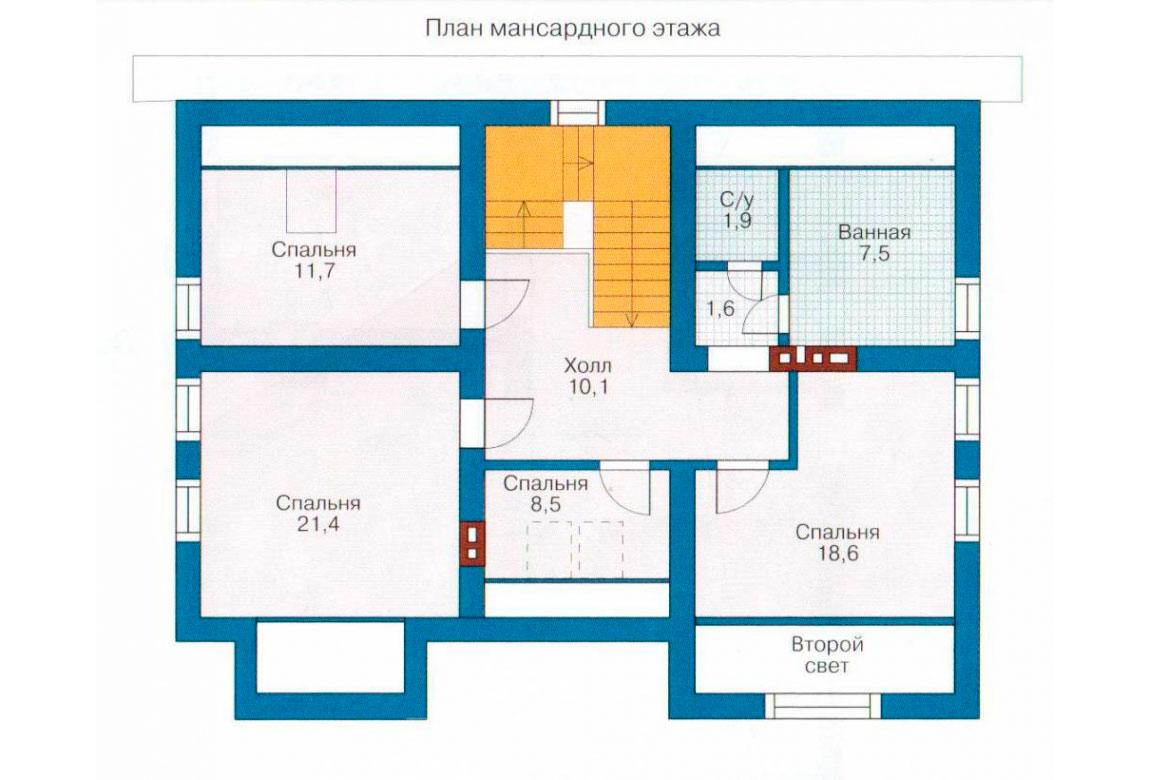 План N2 проекта дома из блоков АСД-1148