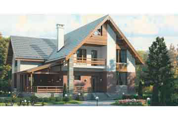 Проект дома из блоков АСД-1149