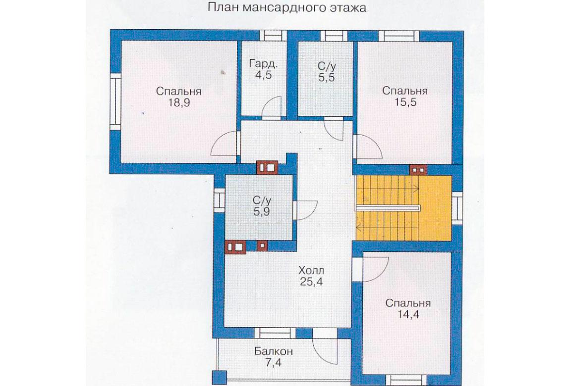 План N1 проекта дома из блоков АСД-1149