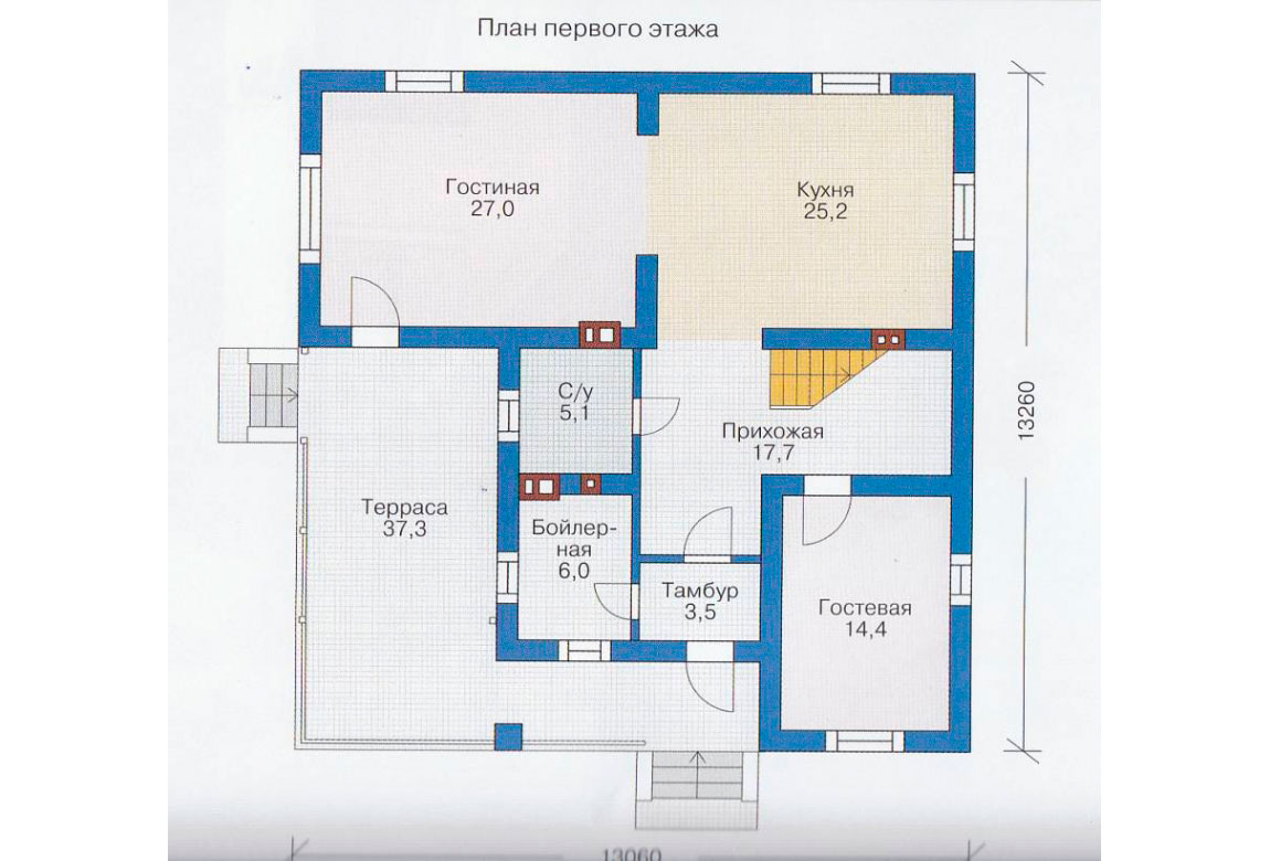 План N2 проекта дома из блоков АСД-1149
