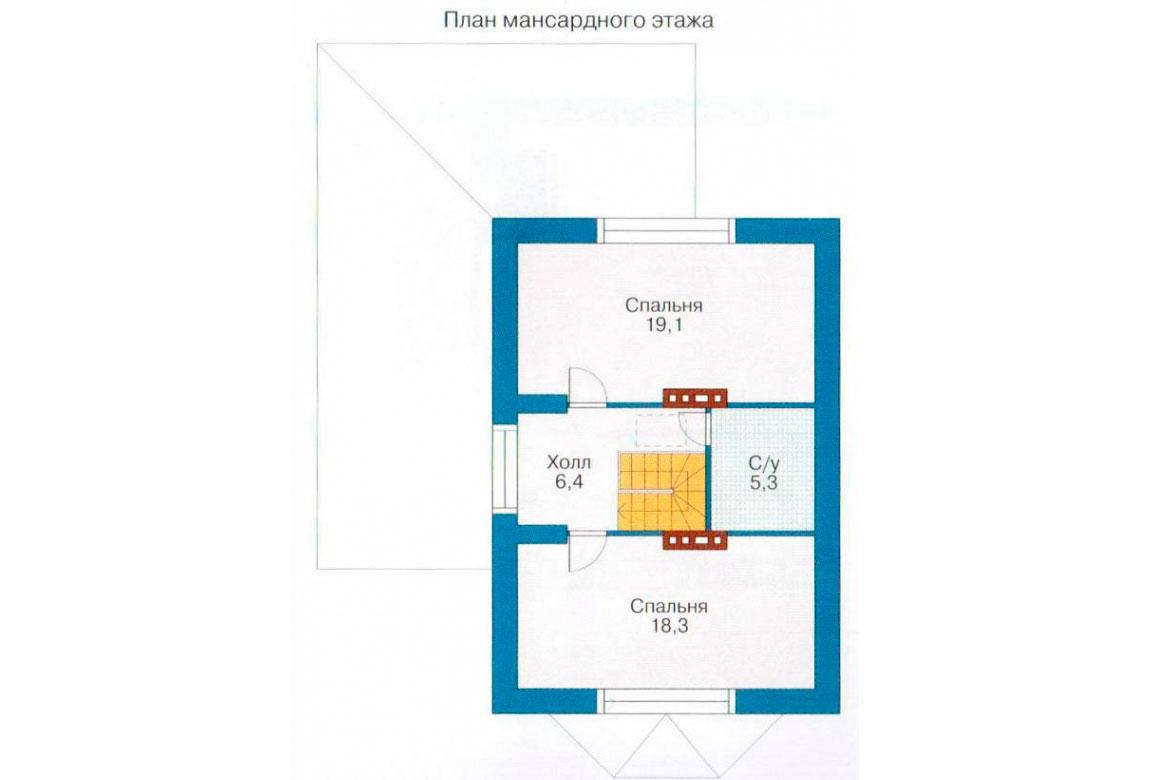 План N1 проекта кирпичного дома АСД-1015