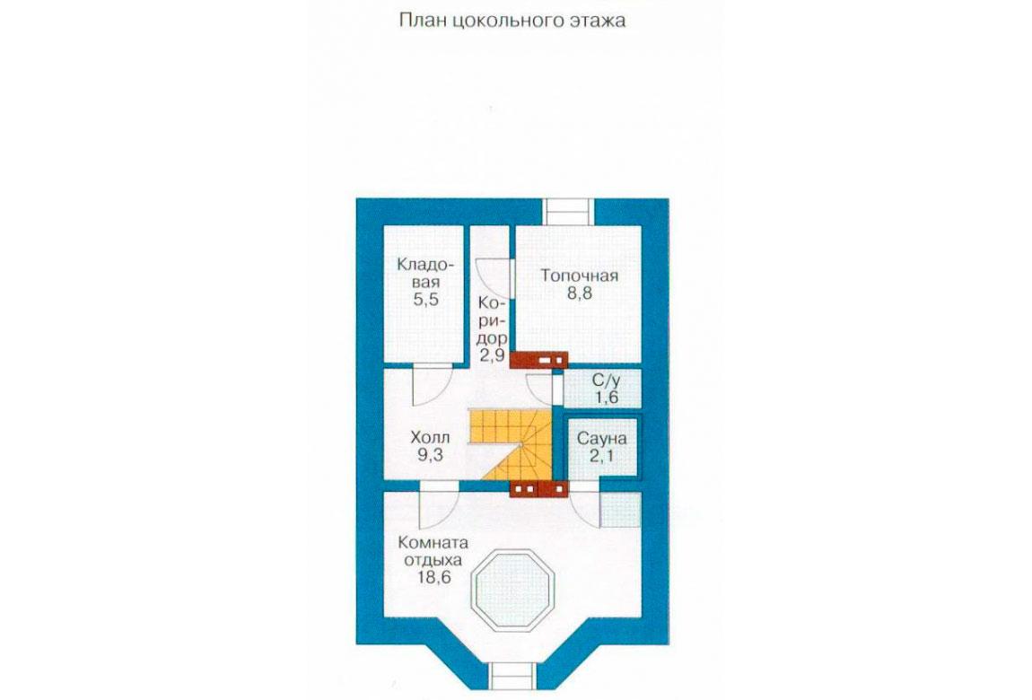 План N3 проекта кирпичного дома АСД-1015